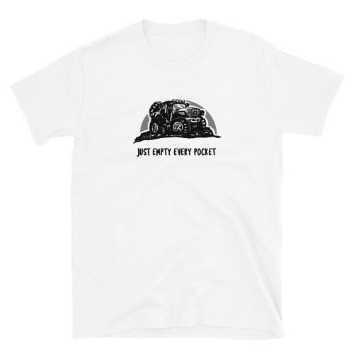 White Just Empty Every Pocket Unisex Short Sleeve T-Shirt