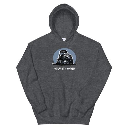Warranty Voided Gray Unisex Hoodie