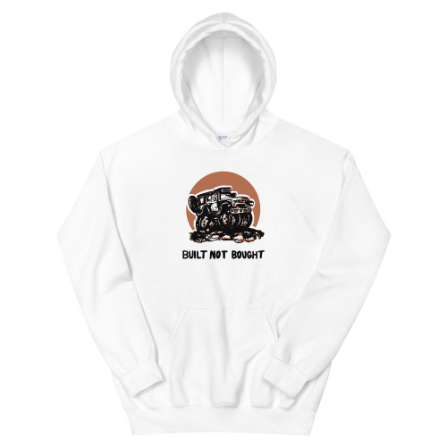 Built Not Bought White Unisex Hoodie