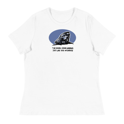 Two Doors White Women's Relaxed T-Shirt