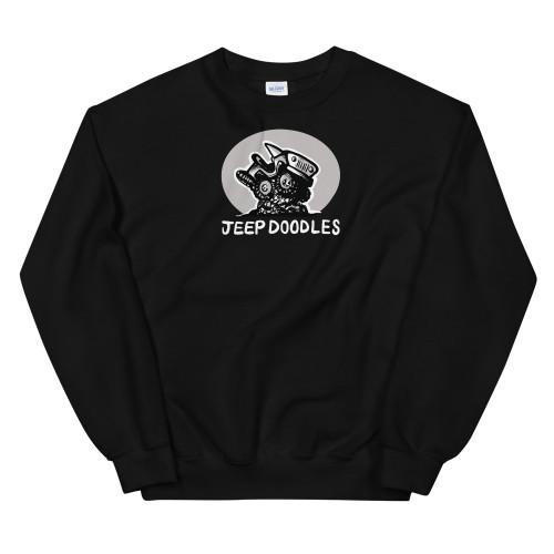 Jeep Doodles Black Unisex Sweatshirt