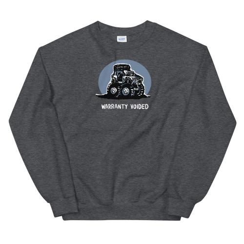 Warranty Voided Gray Unisex Sweatshirt