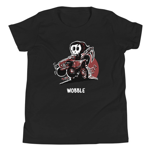 Black Wobble Youth Short Sleeve T-Shirt