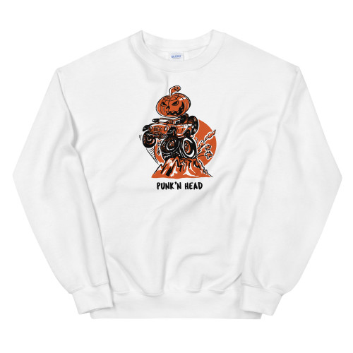 White Punk'n Head Unisex Sweatshirt