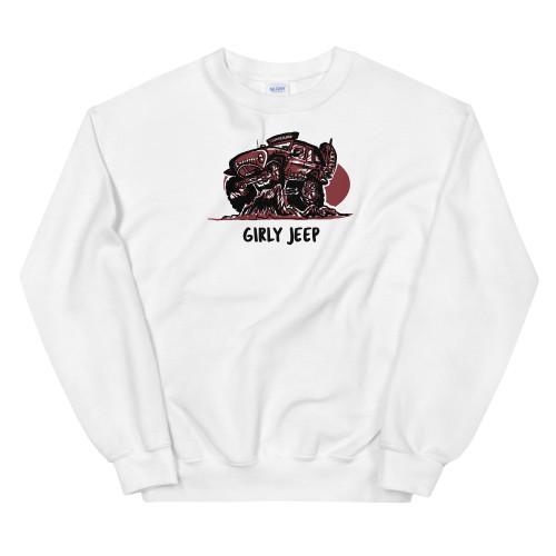 White Girly Jeep Unisex Sweatshirt