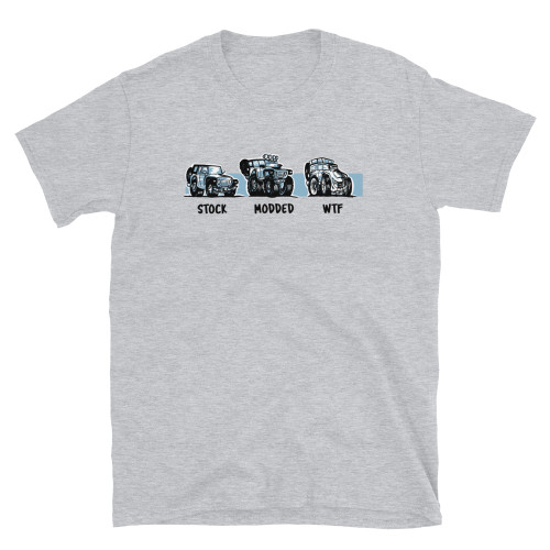 Gray Stock.  Modded.  WTF Short-Sleeve Unisex T-Shirt
