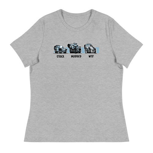 Gray Stock.  Modded. WTF Women's Relaxed T-Shirt
