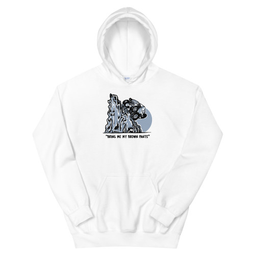 White Brown Pants Unisex Hoodie