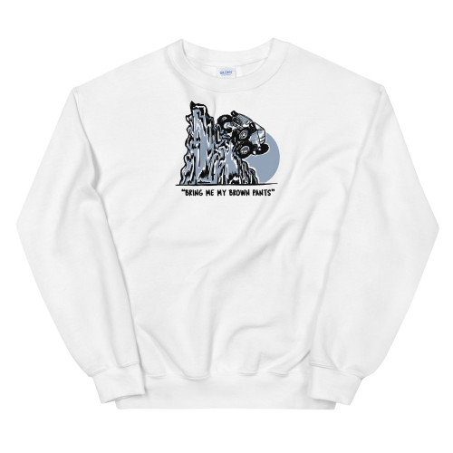 White Brown Pants Unisex Sweatshirt