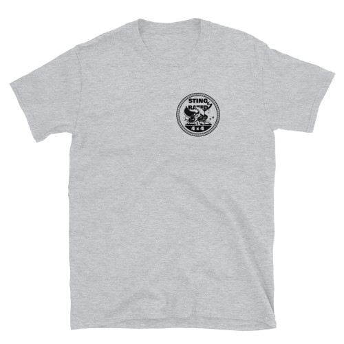 Gray Sting-Rated Logo Short-Sleeve Unisex T-Shirt