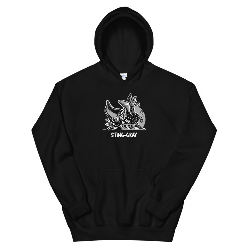 Black Sting-Gray Unisex Hoodie
