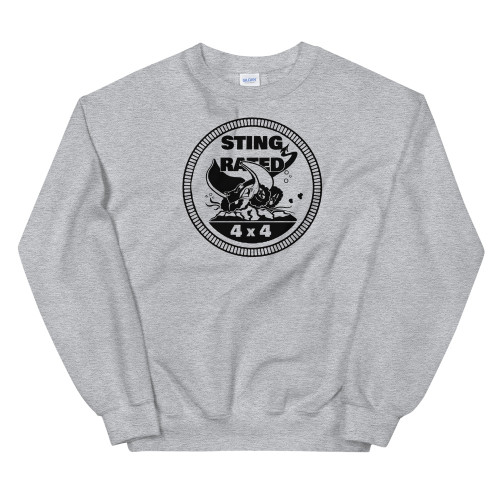 Gray Sting-Rated Unisex Sweatshirt