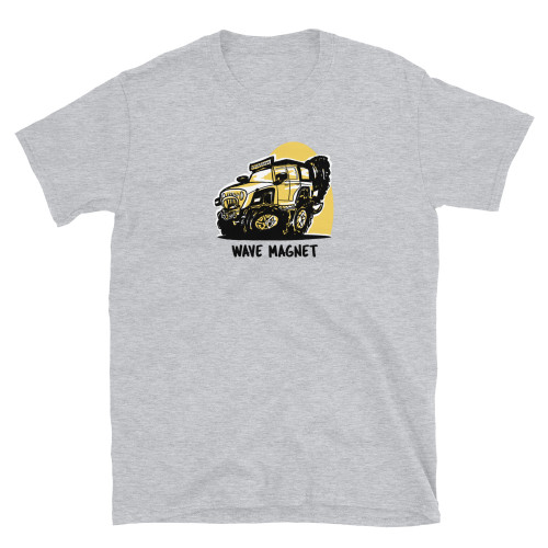 Gray Wave Magnet Short-Sleeve Unisex T-Shirt