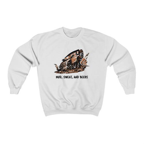 White Mud, Sweat and Beers Unisex Heavy Blend™ Crewneck Sweatshirt