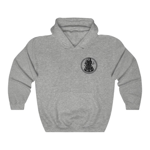 Sarge Badge Heart Unisex Heavy Blend™ Hooded Sweatshirt
