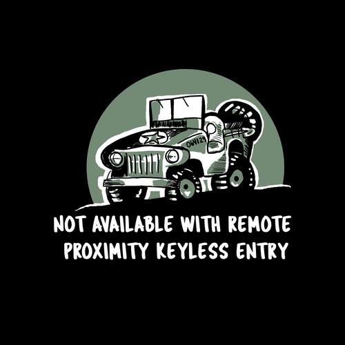No Proximity Keyless Entry Decal