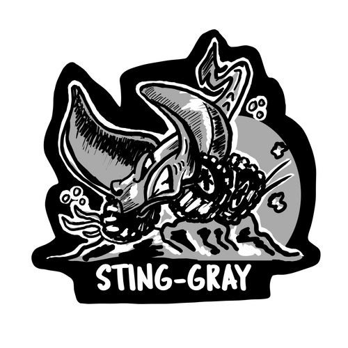 Sting-Gray Decal