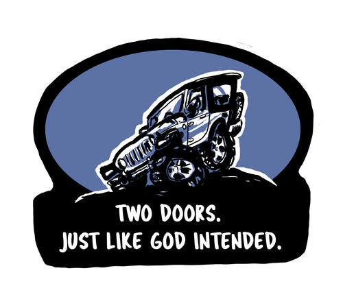 Two Doors Decal