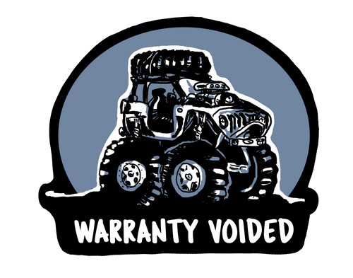 Warranty Voided Decal