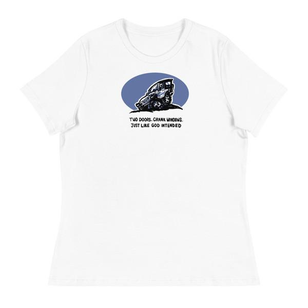 Two Doors White Women's Relaxed T-Shirt