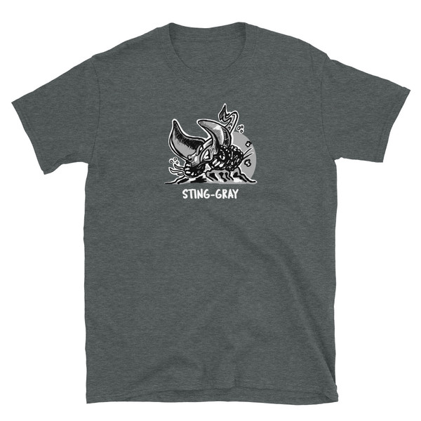 Gray Sting-Gray Short-Sleeve Unisex T-Shirt