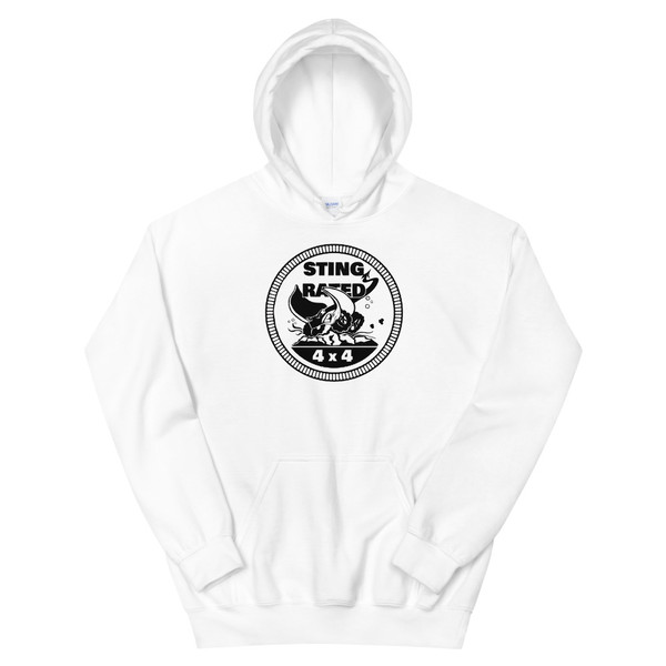 White Sting-Rated Unisex Hoodie