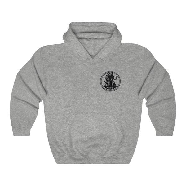 Sarge Badge Heart Unisex Heavy Blend™ Hooded Sweatshirt