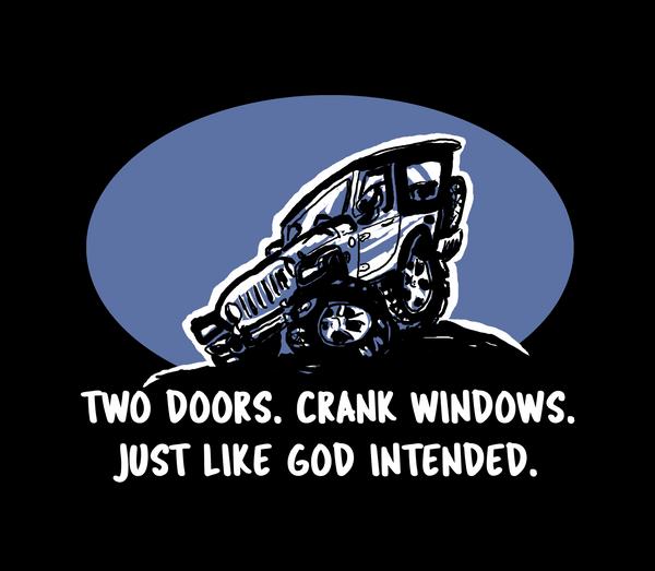 Two Doors Crank Windows Decal