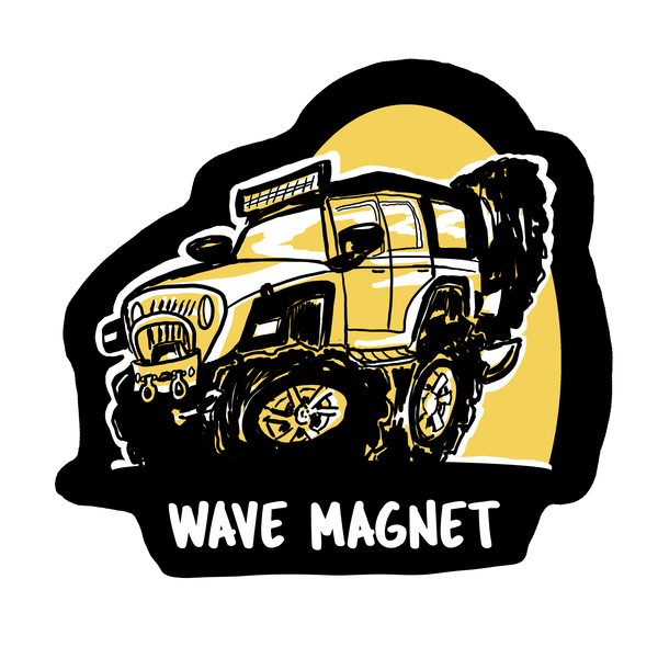 Wave Magnet Decals