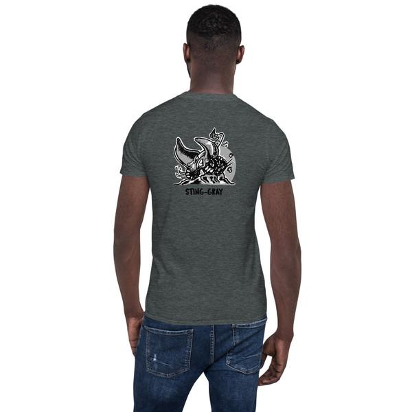 Sting-Gray Back Short-Sleeve Unisex T-Shirt