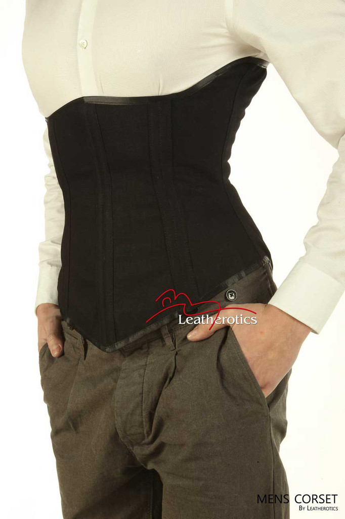 Underbust Mens Corset Tight Lacing Steel Boned Back and Posture support 1224
