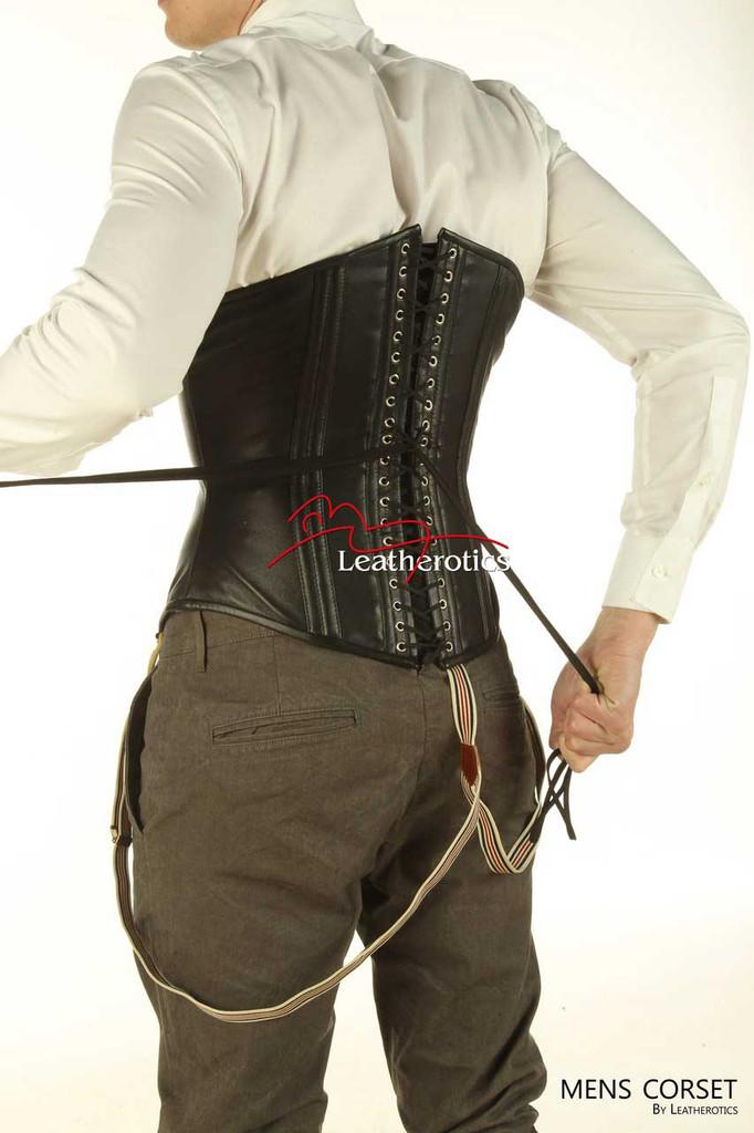 Back lacing mens corset