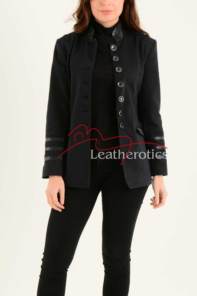 Ladies Black Cotton Jacket LBC 2