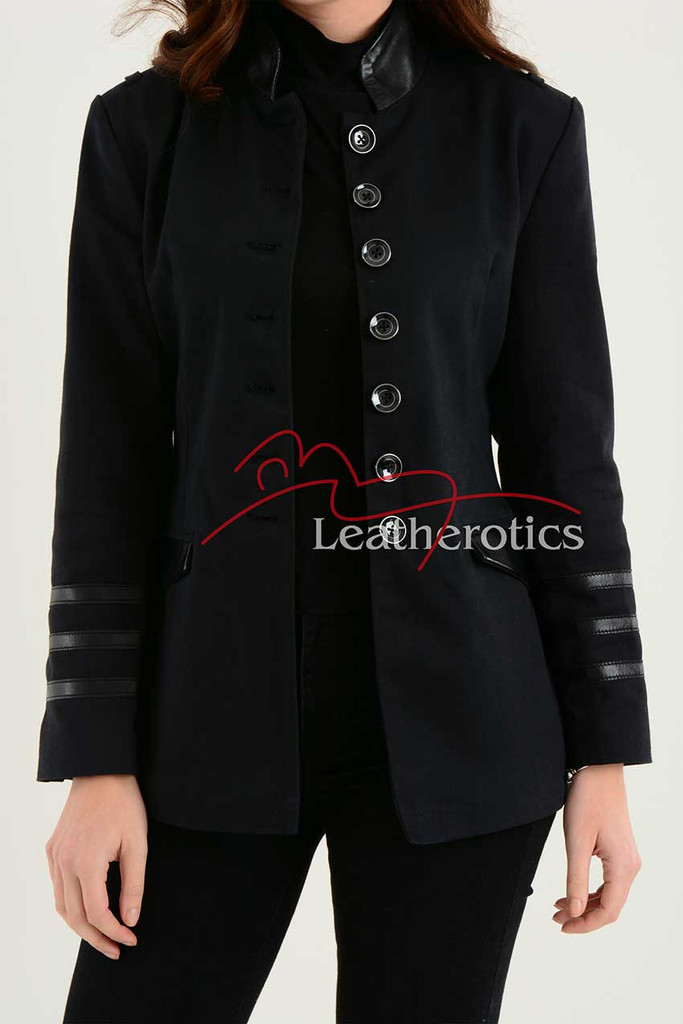 Ladies Black Cotton Jacket LBC 3