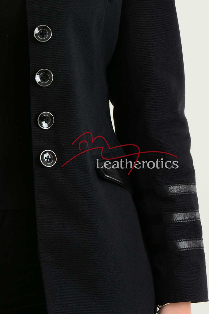 Ladies Black Cotton Jacket LBC details