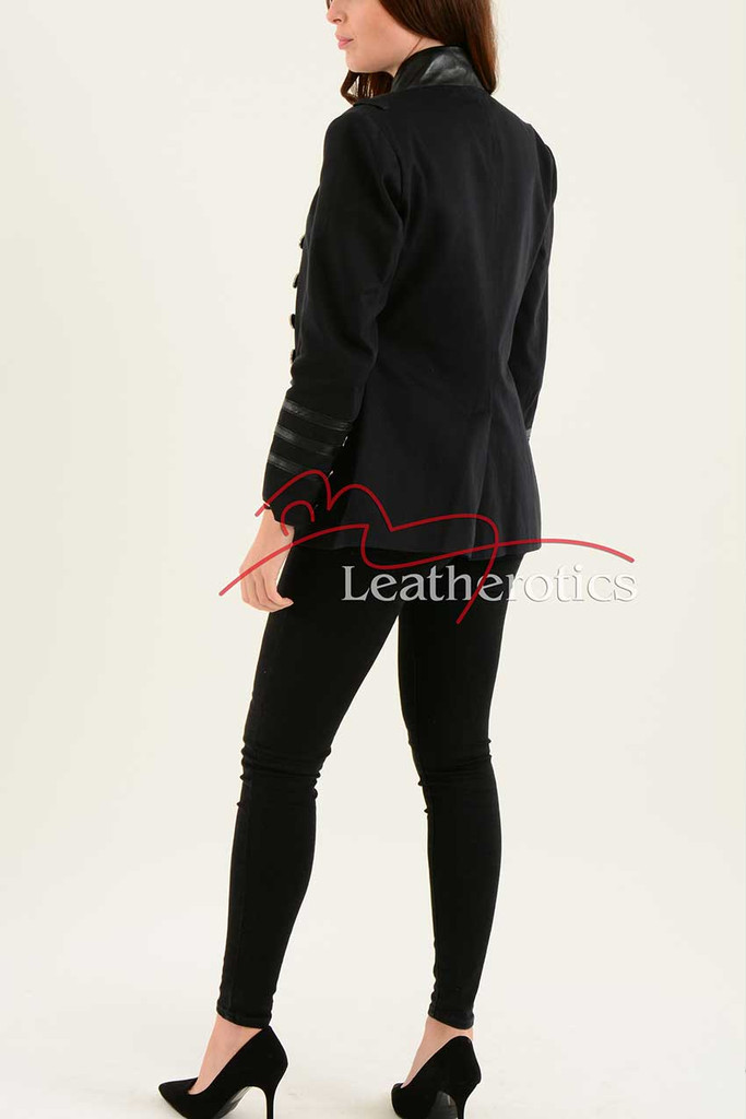 Ladies Black Cotton Jacket LBC 4