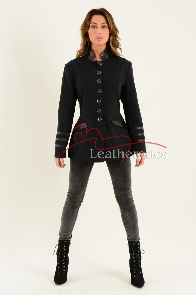 Ladies Black Cotton Jacket LBC 7