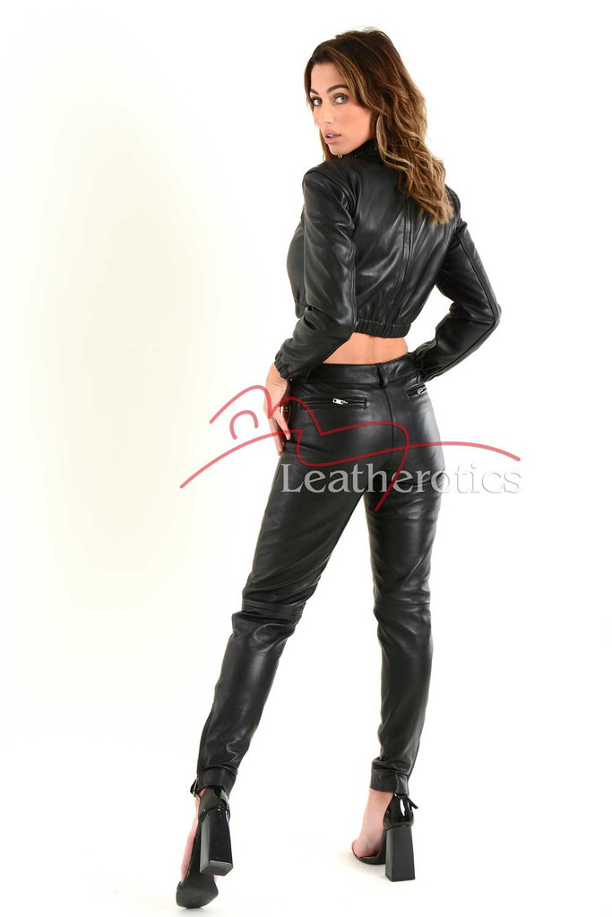 Ladies Fine Leather Trouser 6