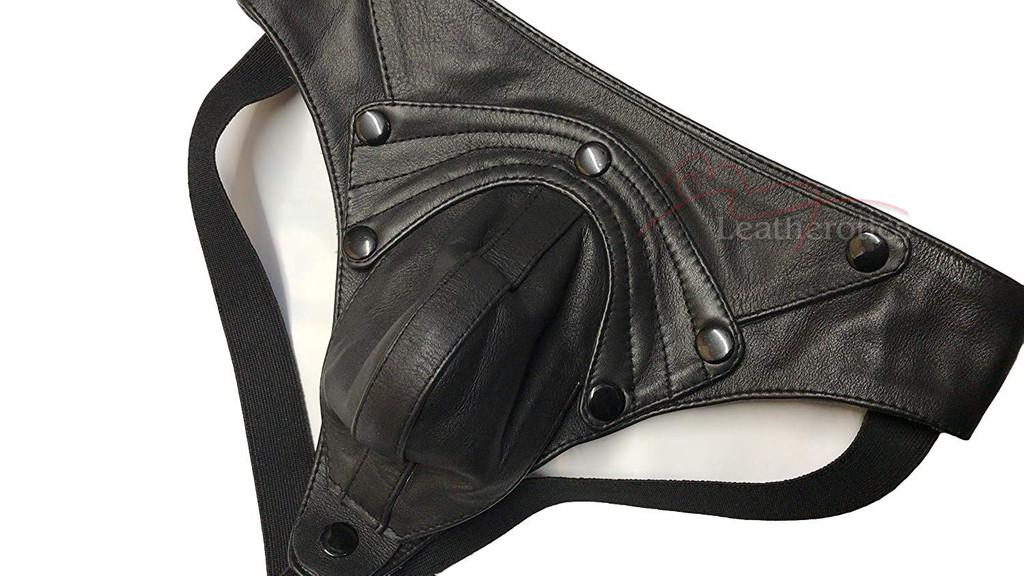 Mens Leather Jockstrap 026