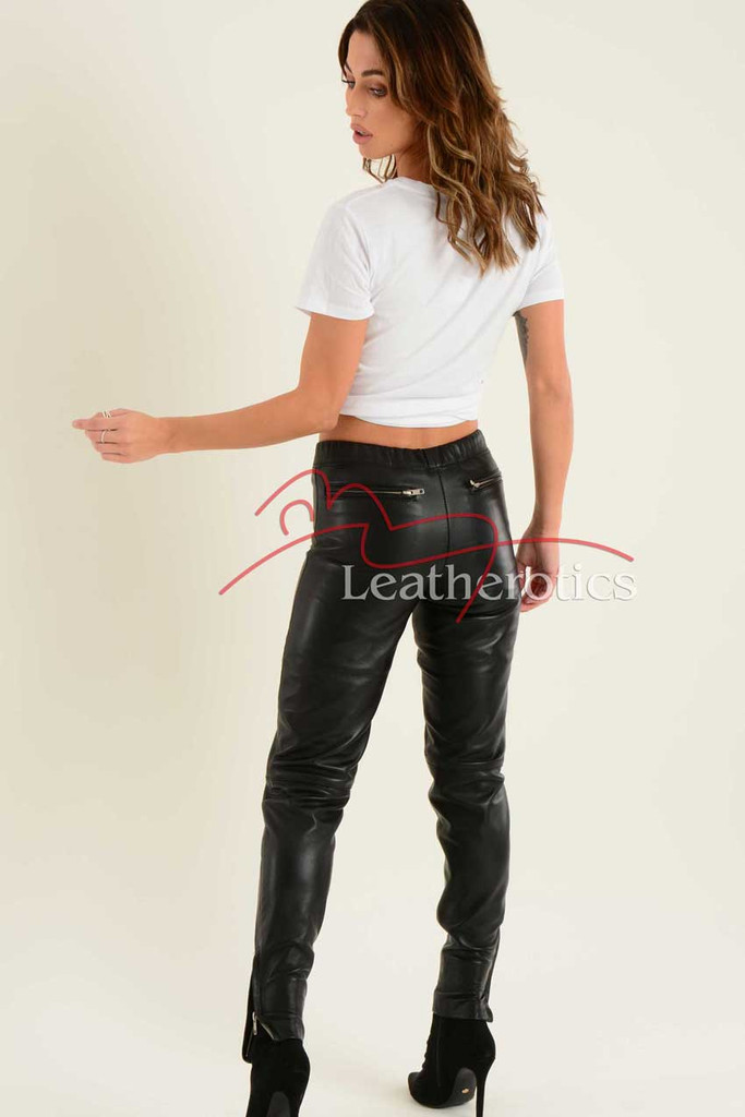 Ladies Fine Leather Trouser 4