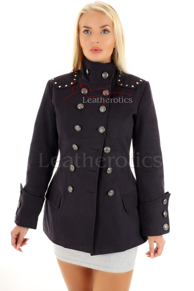 Women's Steampunk Military Jacket Fitted 3