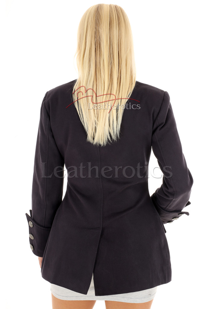 Women's Steampunk Military Jacket Fitted 4 - back