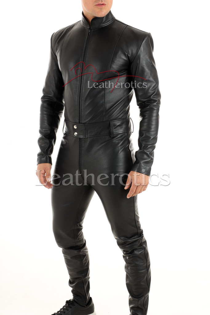 Men's leather catsuit 1