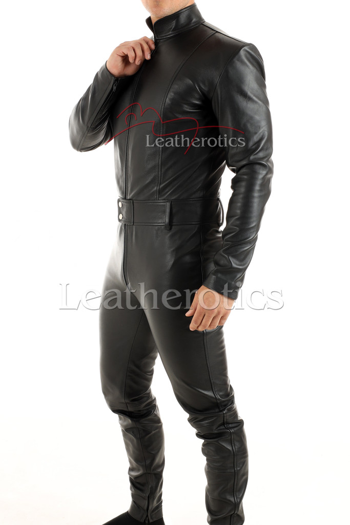 Men's leather catsuit 2 - side