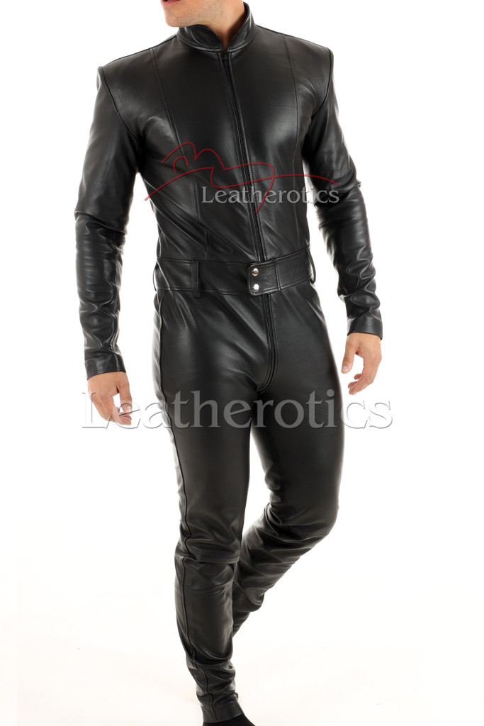Men's leather catsuit 3