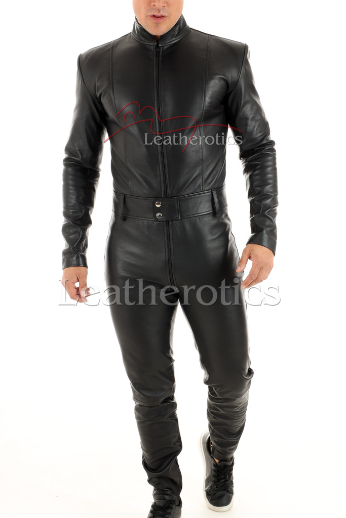 Men's leather catsuit 4