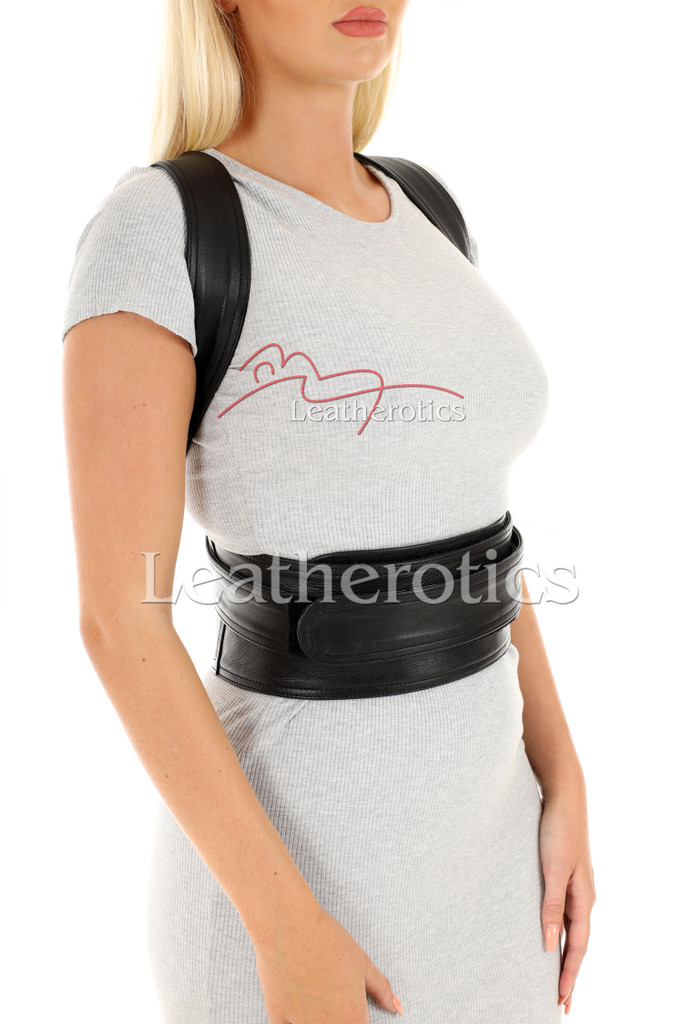 Women's Adjustable Leather Posture Support 2
