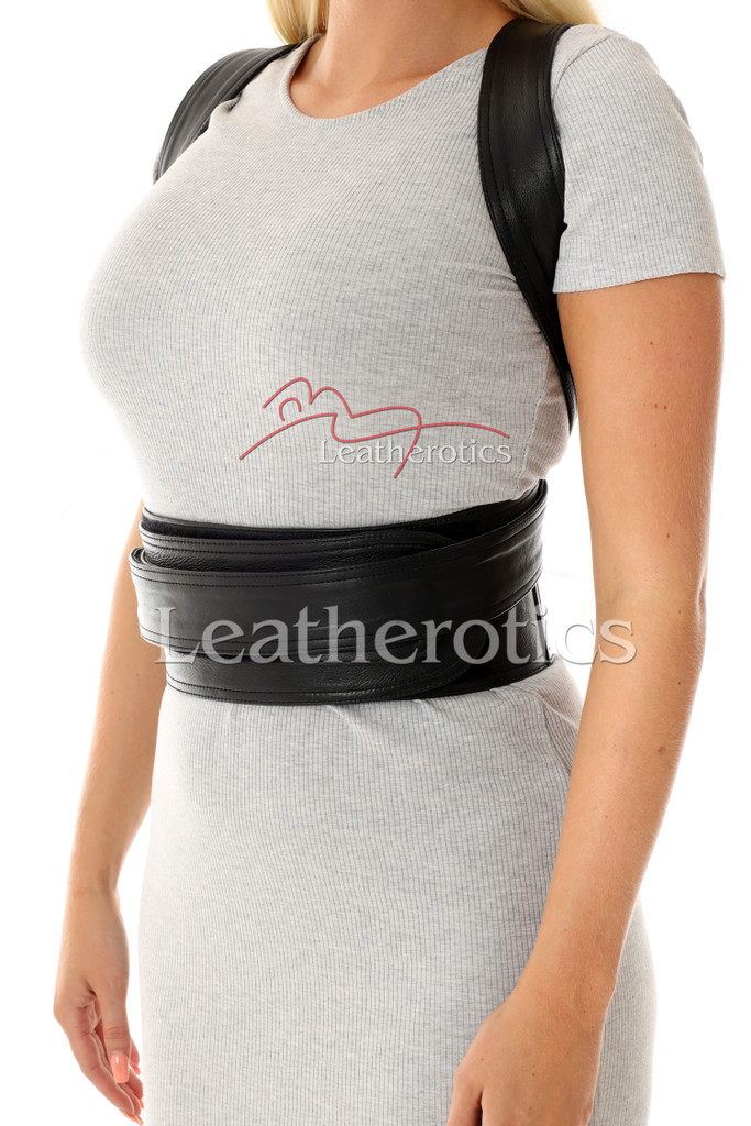 Women's Adjustable Leather Posture Support 5