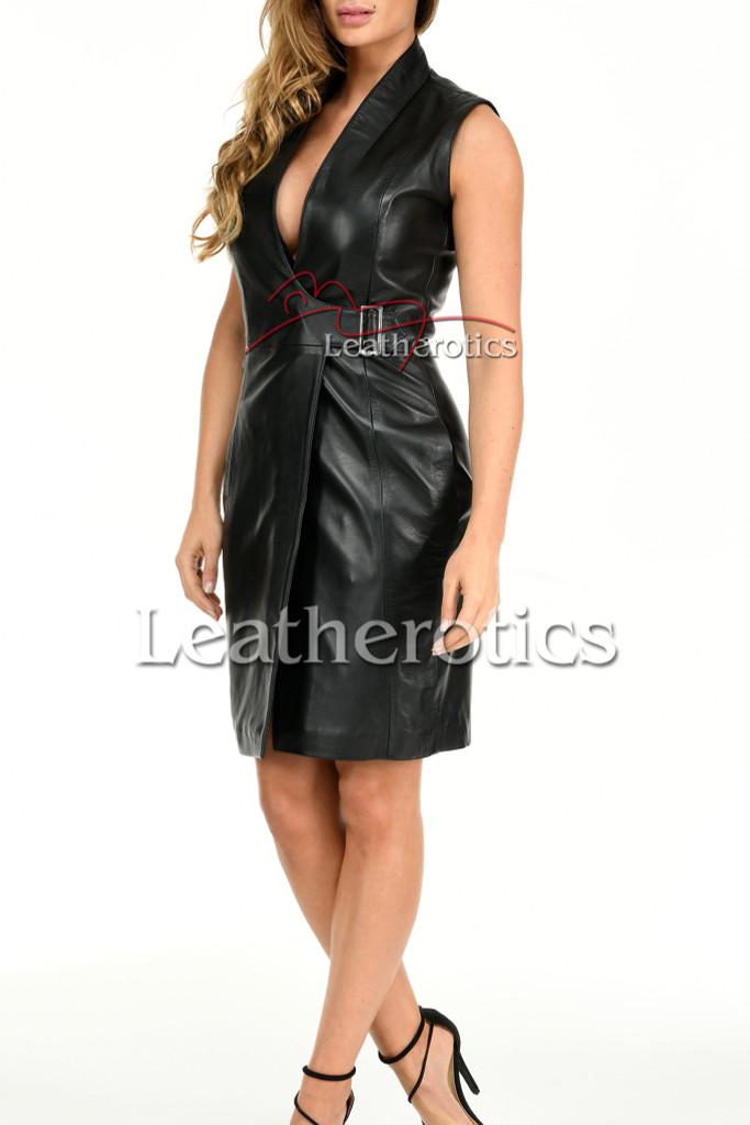 Ladies Leather Dress MD92 - side