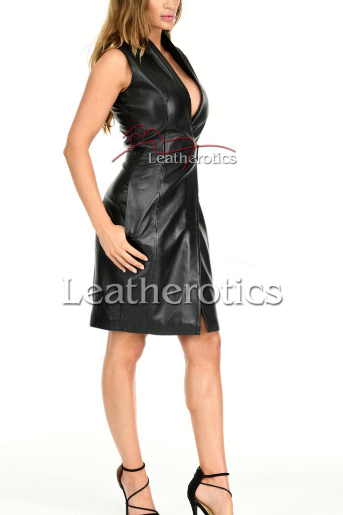 Ladies Leather Dress MD92 - side 2